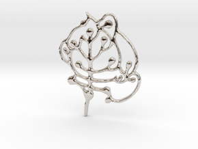 Neolithic 'Tree Of Life' Pendant in Rhodium Plated Brass