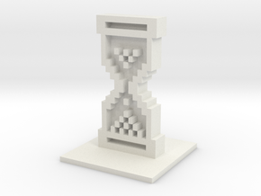 Mouse Icon Hourglass in White Natural Versatile Plastic