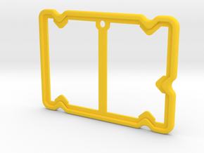 Badge Holder (Film Wizardry) in Yellow Strong & Flexible Polished