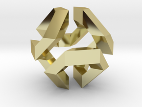 Hamilton Cycle on Truncated Octahedron in 18K Gold Plated