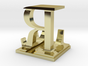 Two way letter / initial L&R in 18K Gold Plated