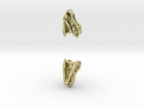 T Rex skull earring in 18K Gold Plated