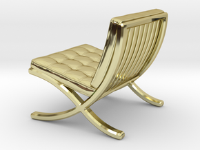 """Mies-Van-Barcelona-Chair - 1/2"""" Model in 18K Gold Plated"""