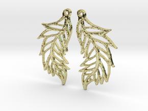 :Featherflight: Earrings in 18K Gold Plated