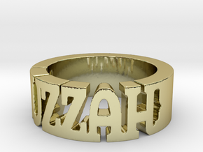 BlakOpal Huzzah Ring - Size 10.75 in 18K Gold Plated