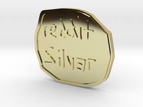 Reddit Silver Coin in 18K Gold Plated