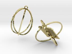 Tardis Earrings in 18K Gold Plated
