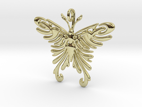 Pendant Tribal Pattern Butterfly in 18K Gold Plated
