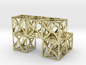 Twirl cubed puzzle part #3 in 18K Gold Plated