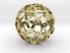 Stripsphere Pendant in 18K Gold Plated