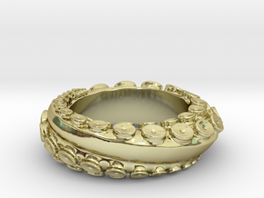Octo Ring S10.5 in 18K Gold Plated