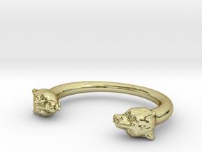 bracelet black panther in 18K Gold Plated