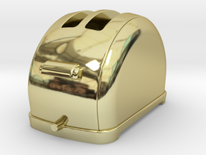 1/6 scale Toaster, 1940's  in 18K Gold Plated