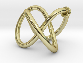 Endless movement - all materials in 18K Gold Plated