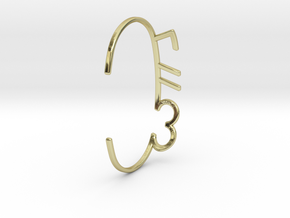 ThreeFN Bracelet - Ladies in 18K Gold Plated