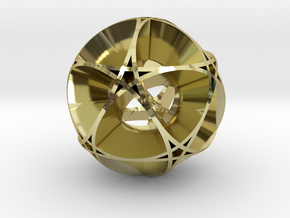 Pentragram Dodecahedron 1 (wide) in 18K Gold Plated