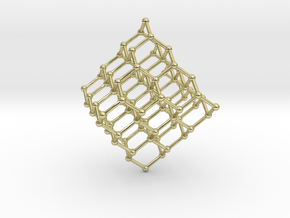 Face Centered Cubic (Diamond) Crystal Structure in 18K Gold Plated
