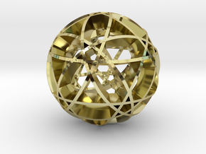 Pentragram Dodecahedron 2 in 18K Gold Plated