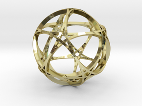 Pentagram Dodecahedron 1 (narrow, small) in 18K Gold Plated