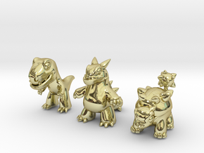 Miniature Dinos in 18K Gold Plated