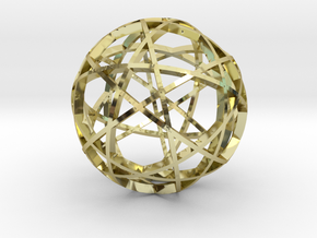 Pentagram Dodecahedron 3 (narrow) in 18K Gold Plated