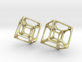 Hypercube Earrings in 18K Gold Plated
