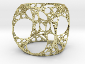 Apollonian Cube in 18K Gold Plated
