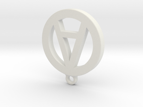 "Necklace Charm - Letter ""A"" in White Natural Versatile Plastic"