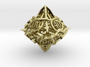 Thorn d10 Decader Ornament in 18K Gold Plated