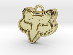 Charming Fox Racing Logo in 18K Gold Plated