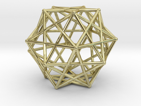Star Cage 35mm Dodecahedral Sacred Geometry in 18K Gold Plated