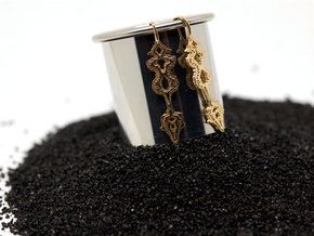"GREEK ""Σ' Αγαπώ"" Sound Wave Earrings in Premium Silver"