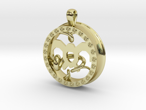 Wind Tamer 1 Inch Pendant in 18K Gold Plated