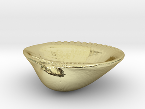 Palm Beach Sea Shell - 3 Inch Jewelry Dish in 18K Gold Plated