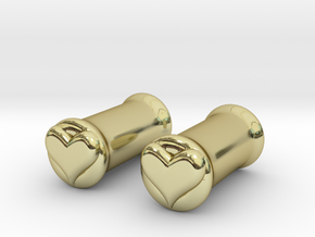 Heart 5mm (4 gauge) tunnels in 18K Gold Plated