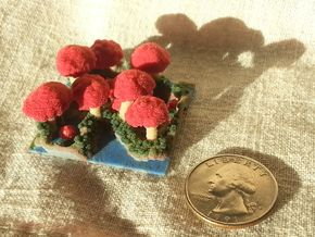 Mushroom Village - Tiny 0.25 mm in Full Color Sandstone