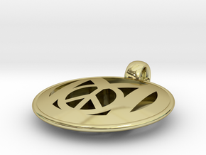 Millennial Peace Pendant (does not include cord) in 18K Gold Plated