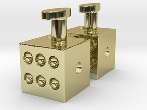 Cufflinks dice pair in 18K Gold Plated