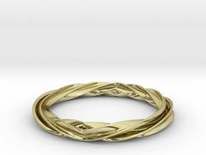 Twist and Flip Bangle in 18K Gold Plated