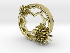 2 Inch Chrysanthemum Tunnels (LEFT) in 18K Gold Plated