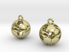 Soccer Balls Earrings in 18K Gold Plated