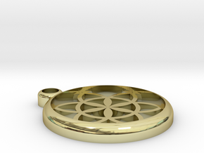 Flower of Life Pendant in 18K Gold Plated