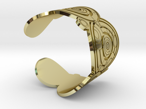 The Doctor's name (Engraved): Cuff - size M in 18K Gold Plated