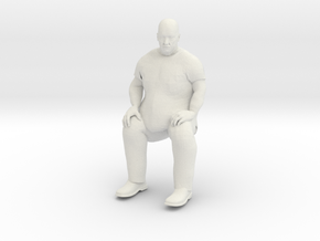 Big Guy Sitting 1/29 scale in White Strong & Flexible