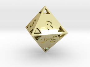 """Fibonacci """"Doubling"""" Octahedron in 18K Gold Plated"""