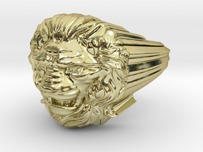 Lion ring # 2 in 18K Gold Plated