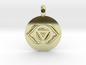 AJNA THIRD EYE Chakra Symbol jewelry Pendant in 18K Gold Plated