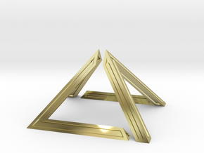 David Pyramid Thick - 6cm in 18K Gold Plated