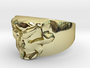 Skull Ring Size 11 in 18K Gold Plated