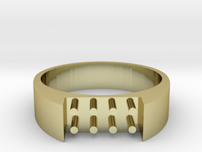 8-bit ring (US9/⌀18.9mm) in 18K Gold Plated